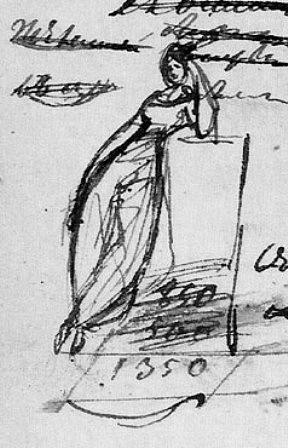 Рисунок А.С. Пушкина, 1828